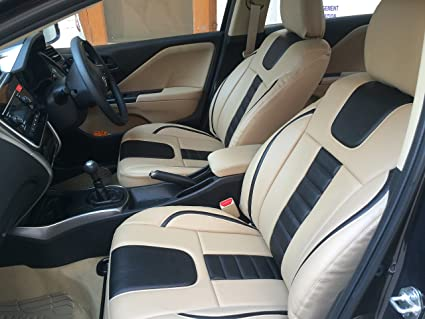 For Honda City Zx Car Seat Covers Pu Leatherite Rexin Beige