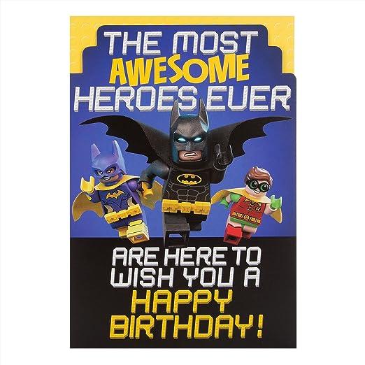 Hallmark - Tarjeta de Lego Batman asombroso Heroes ...