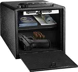 AdirOffice Pistol Safe - Electronic, Easy to Install, Heavy Duty Storage for Firearms Cash Jewelry Documents & More - for Home Office Hotel Use