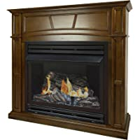 Pleasant Hearth 46 Full Size Heritage Natural Gas Vent Free Fireplace System 32,000 BTU, Rich