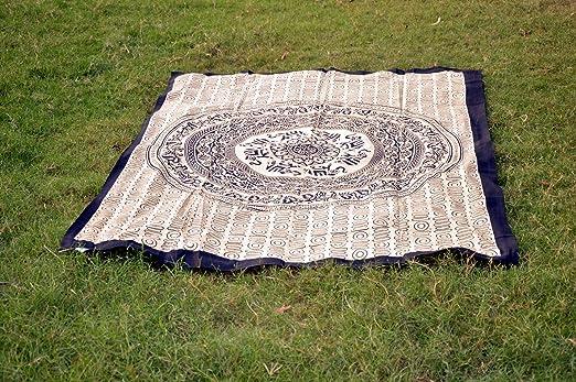 Sábana de algodón indio Mandala para yoga o picnic ...