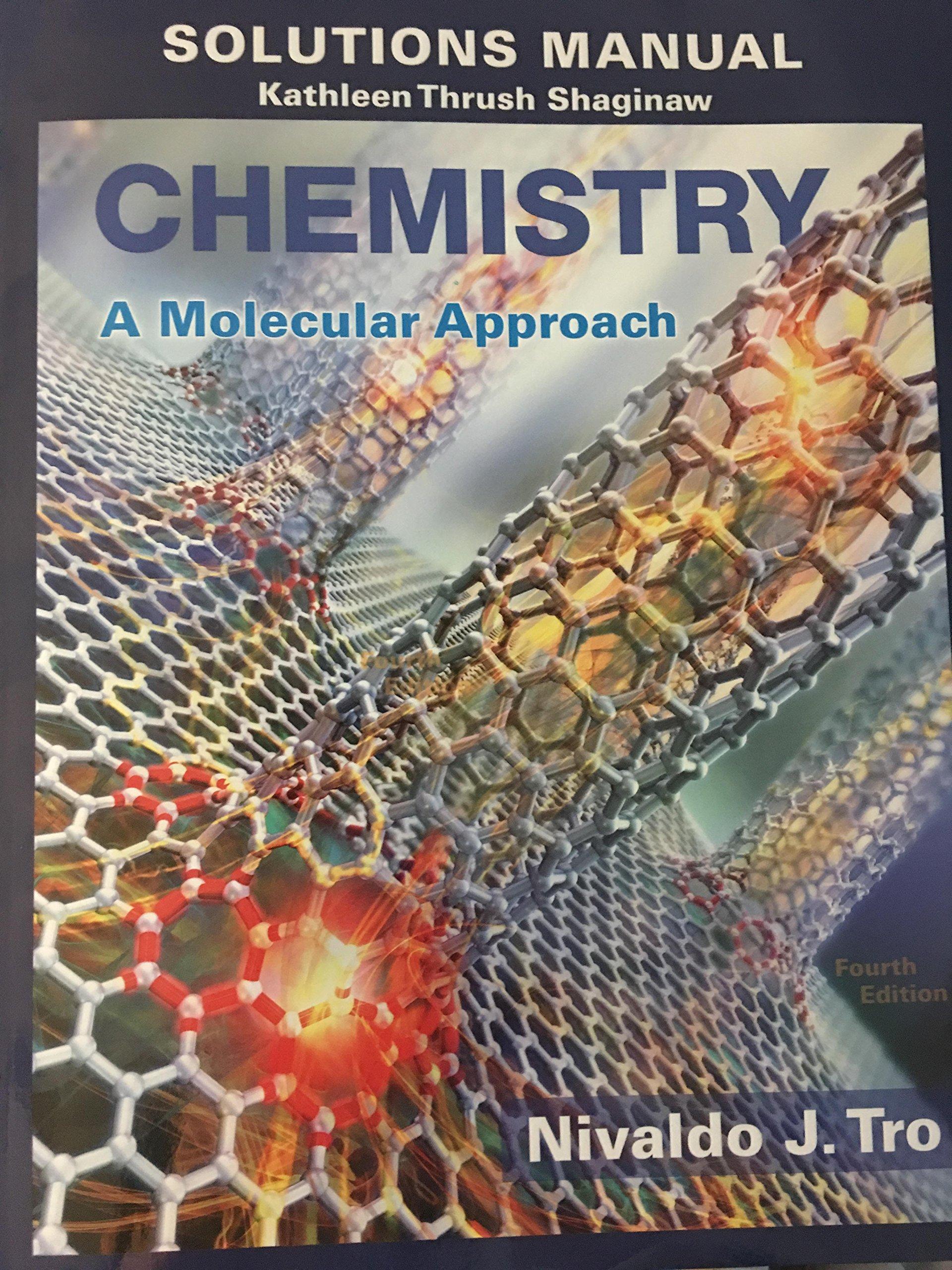 Solution Manual for Chemistry: A Molecular Approach: Nivaldo J Tro:  9780134066257: Books - Amazon.ca