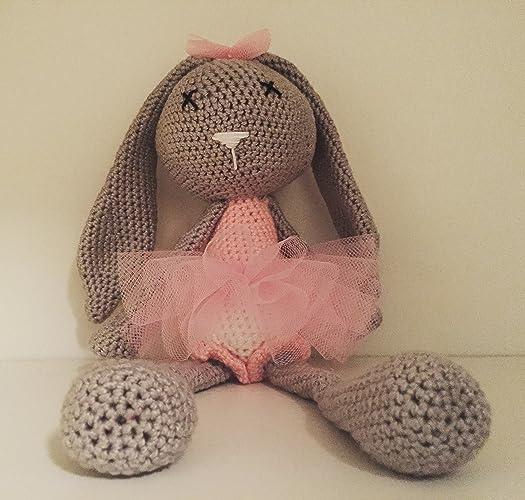 Peluche Pupazzo Bambola Little Ballerina Coniglietto Amigurumi