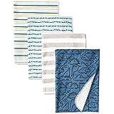 Gerber Unisex-Baby 4-Pack Flannel Receiving Blanket