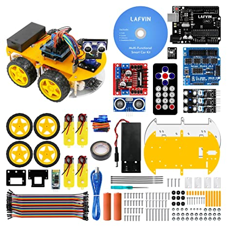 2019 New Style Avoidance Tracking Motor Smart Robot Car Chassis Kit Speed Encoder Battery Box 2wd Ultrasonic Module For Arduino Kit 2019 New Fashion Style Online Integrated Circuits