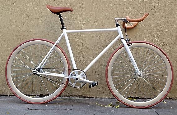 MOWHEEL Bicicleta Fixie Monomarcha Single Speed FB-01 Talla-54cm: Amazon.es: Deportes y aire libre
