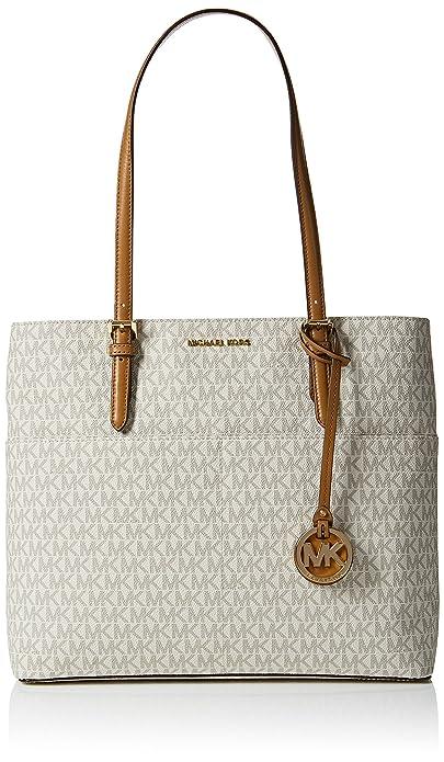 e174a768c2c5 Michael Kors Women's Large Bedford Pocket Signature Tote Leather Shoulder  Bag