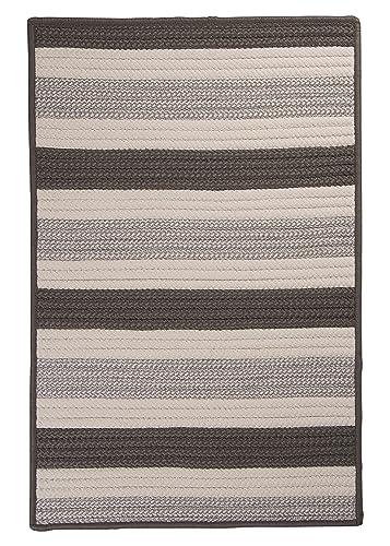 Stripe It Rug, 4 by 6-Feet, Silver
