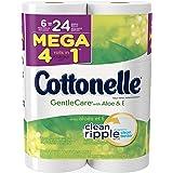 Cottonelle GentleCare Toilet Paper, Bath Tissue, Aloe & Vitamin E, 6 Mega Rolls