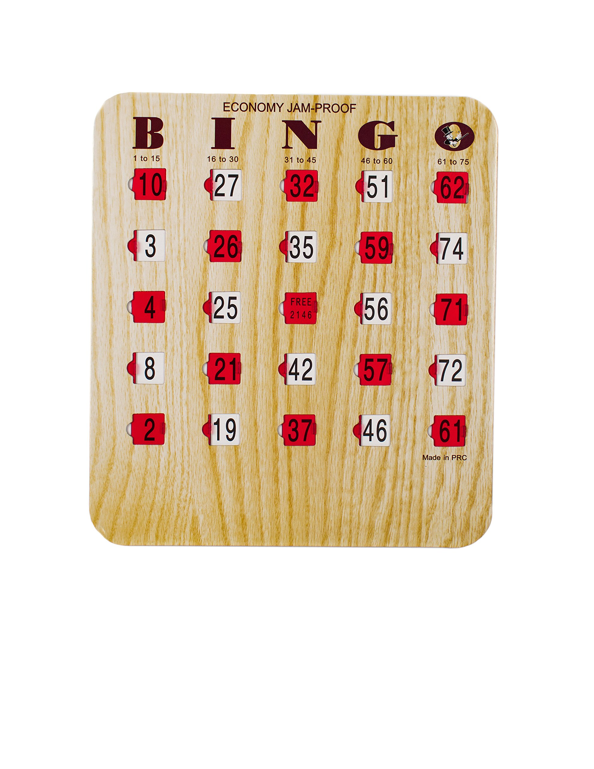 Economy Jam Proof Bingo Shutter Card, 200 Count by Mr. Chips, Inc
