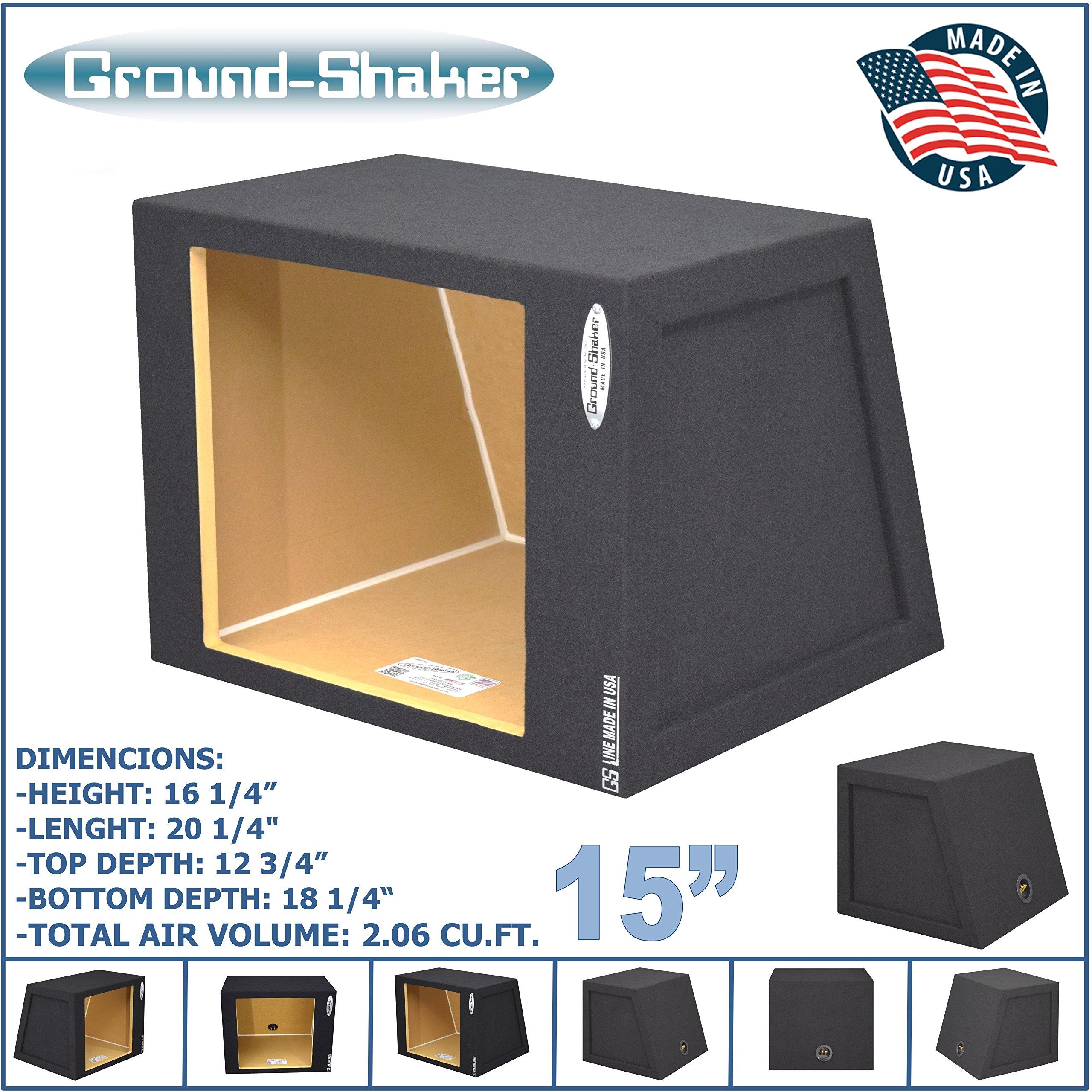 15'' single sealed Solo baric Hatchback speaker box