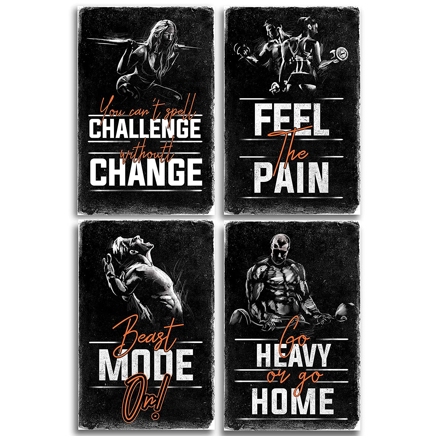 Amazon Throwback Traits Motivational Fitness Posters For
