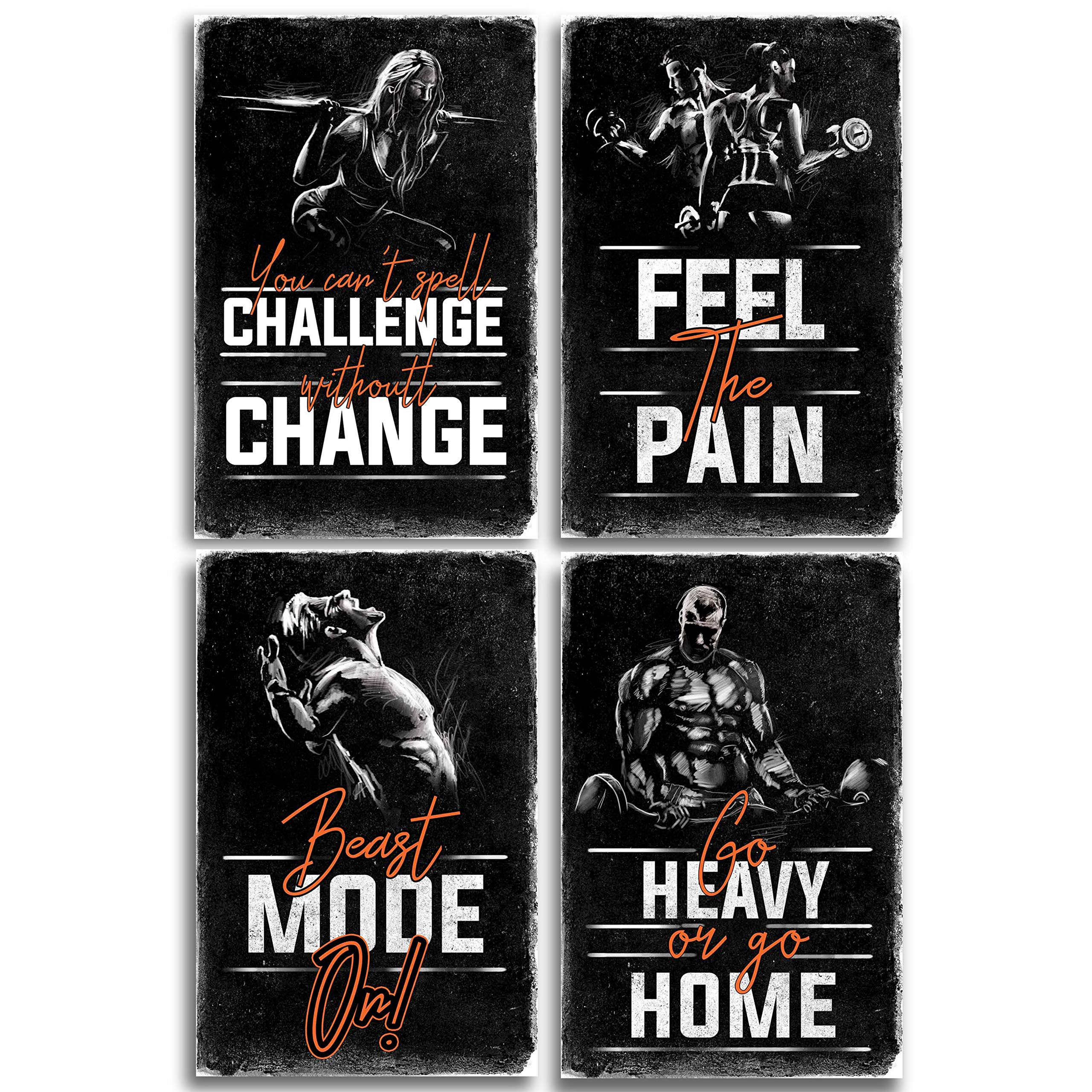 Galleon - Throwback Traits Motivational Fitness Posters For ...