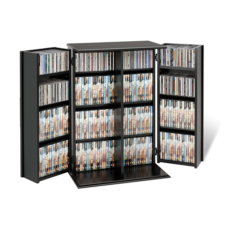 Amazon.com: Black Locking Media Storage Cabinet: Kitchen & Dining