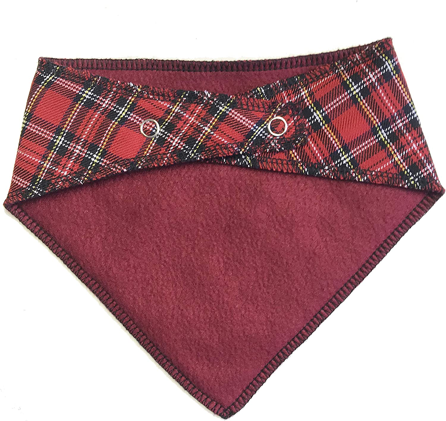 Spoilt Rotten Pets S1 Personalised Red Tartan Dog Bandana Custom Embroidered With Any Name Suitable For Miniature Dogs Dachshunds /& Cats