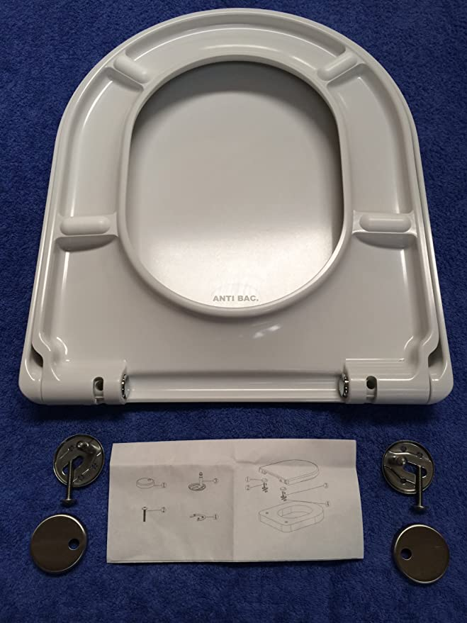 Toilet Seat Fits Duravit Katja Stainless Steel Hinges Duoplast 2,3 KG