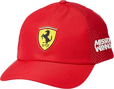 Youaini Ferrari Sandwich Peaked Hat//Cap Red
