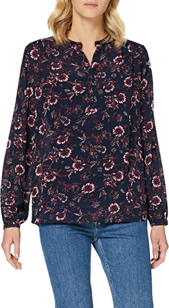 Tommy Hilfiger Amia Pop Over LS Blouse Camisa para Mujer