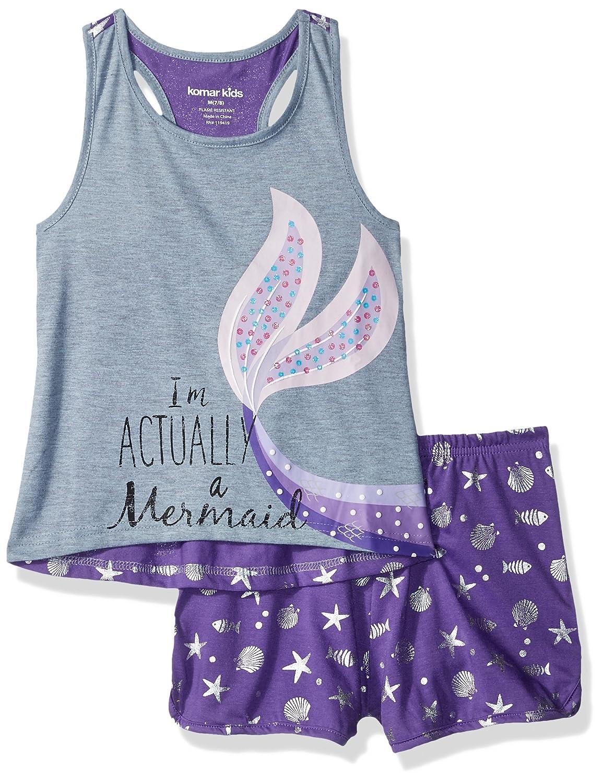 Komar Kids Girls Big 4d Im Actually A Mermaid Short Sleep Set