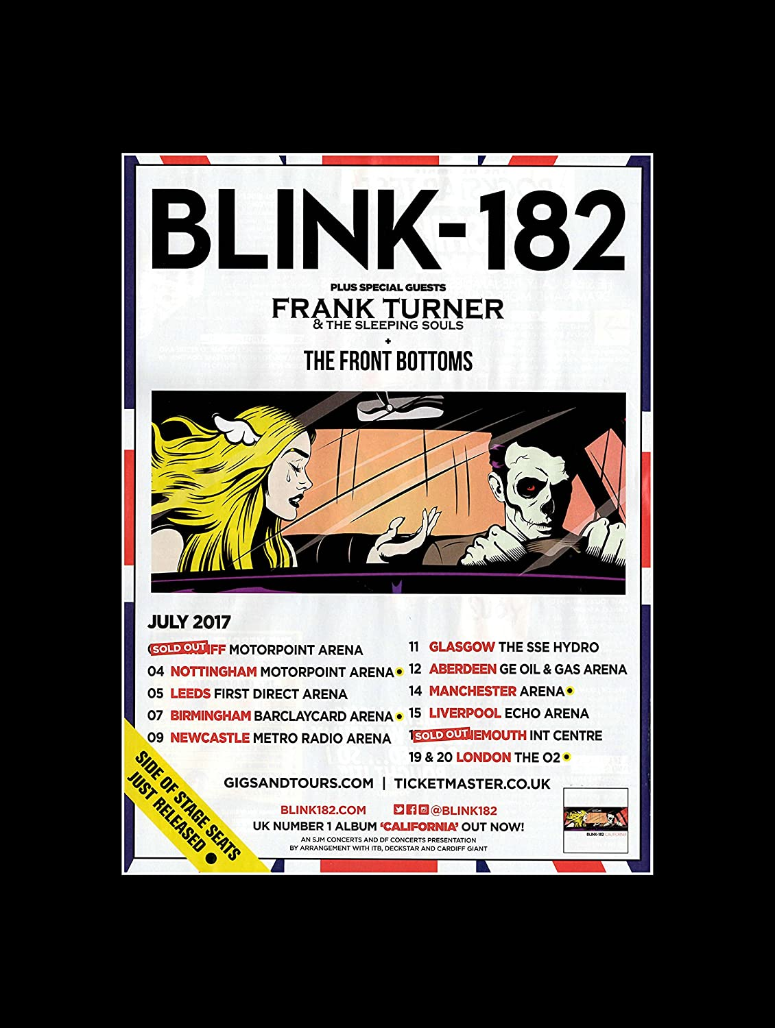 Stick It On Your Wall blink-182 Frank Turner & The Sleeping Souls ...