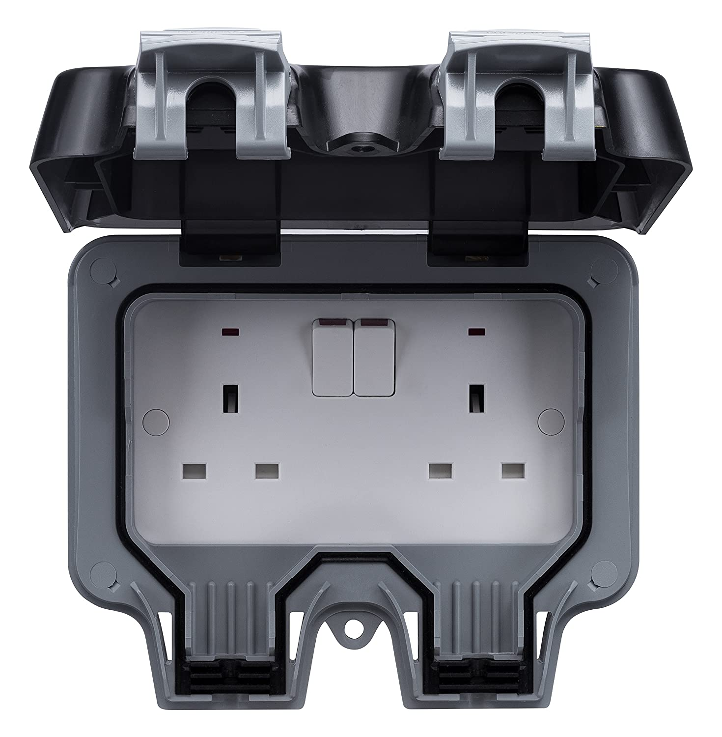 Bg Wp22 13 A 2 Gang Storm Weatherproof Outdoor Switched Socket Diy Electrical Wiring Shed Additionally Crabtree Accessories Double Pole Tools