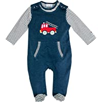 SALT AND PEPPER Baby-Jungen Strampler BG Playsuit Uni Fire Ocs