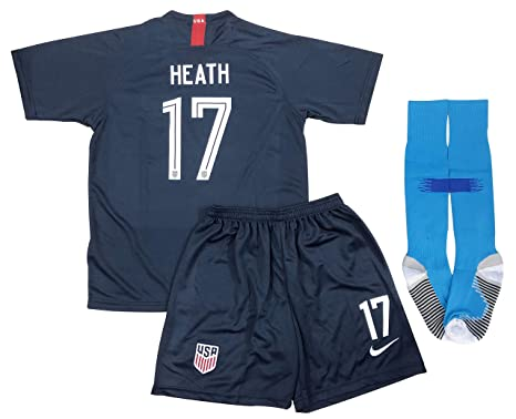 4846b03b582 New 2019 Tobin Heath #17 USA National Team Away Soccer Jersey Shorts &  Socks for