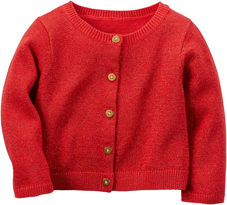 Carters Girls Pink Sparkle Cardigan Sweater