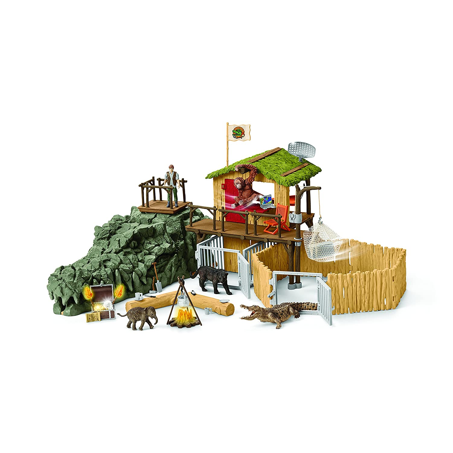A Schleich Croco Jungle Research Station
