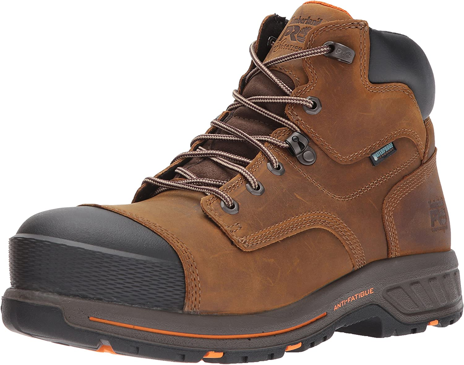 Timberland PRO Men's Helix HD 6 Inch Composite Safety Toe Waterproof Industrial & Construction Shoe, Distressed Brown Full Grain Leather, 11: Shoes