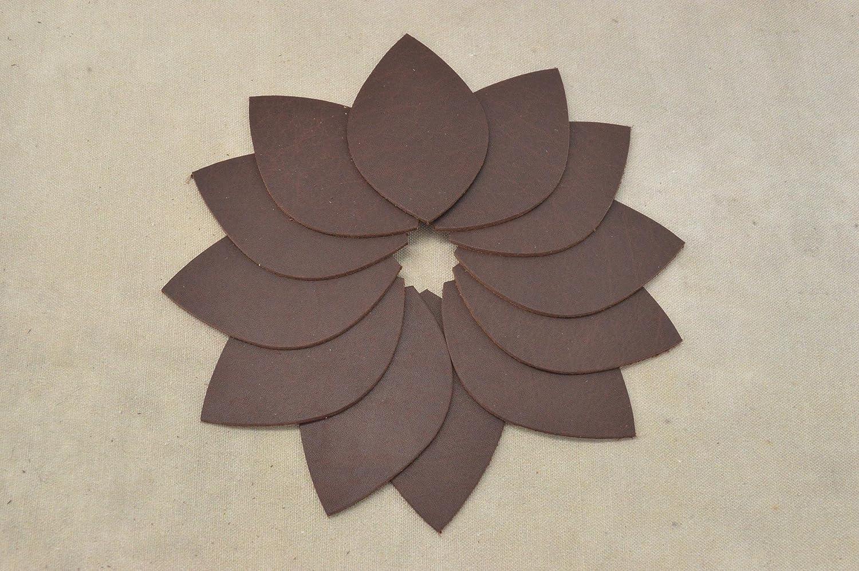Sandstone Oil Tanned Leather Earrings Die Cut DIY 12 Pack Blanks Window Teardrop