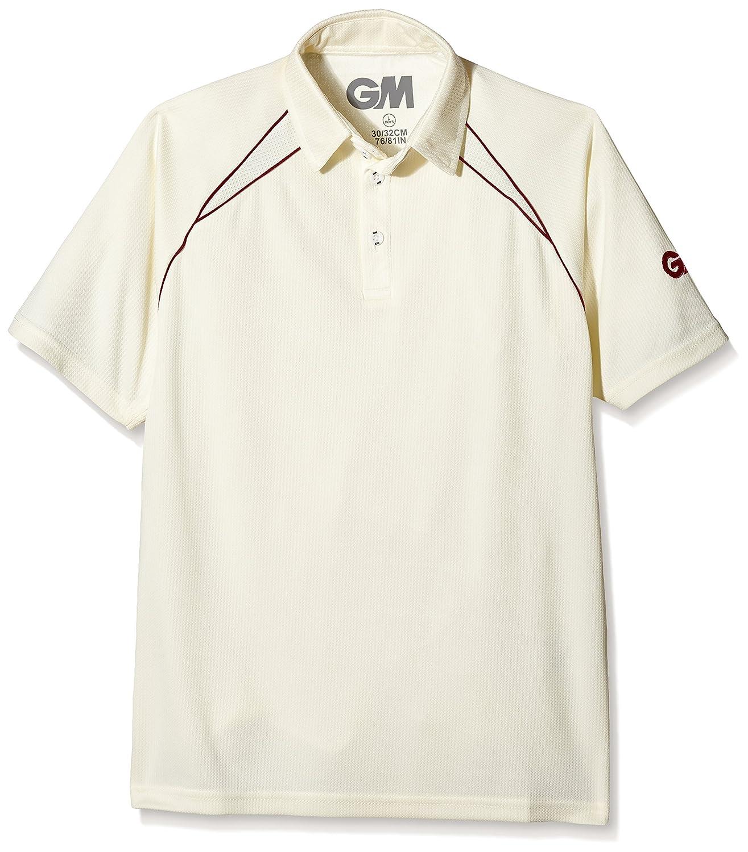 GM Cricket Gunn and Moore Mens Teknik Club Short Sleeve Cricket Shirt