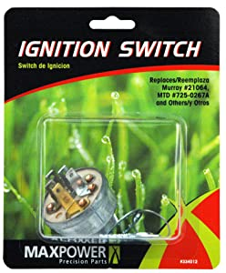 Maxpower 334012 Ignition Switch Replaces Poulan/Husqvarna/Craftsman STD365402, 532365402, MTD 725-0267, 725-0267A, Toro 23-0660 and Many Others