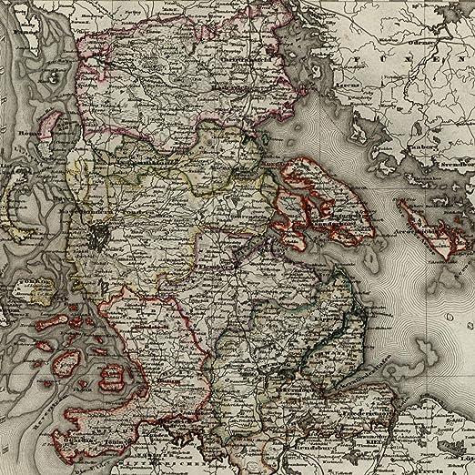 Amazon.com: Scandinavia Denmark Europe Germany East Sea 1851 ...