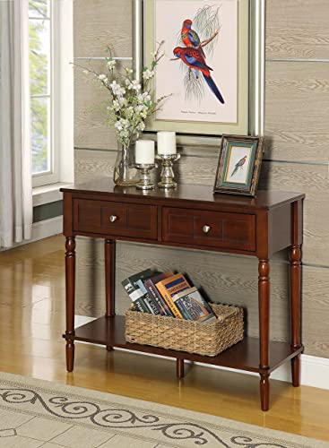 Convenience Concepts French Country Two Drawer Hall Table, Espresso