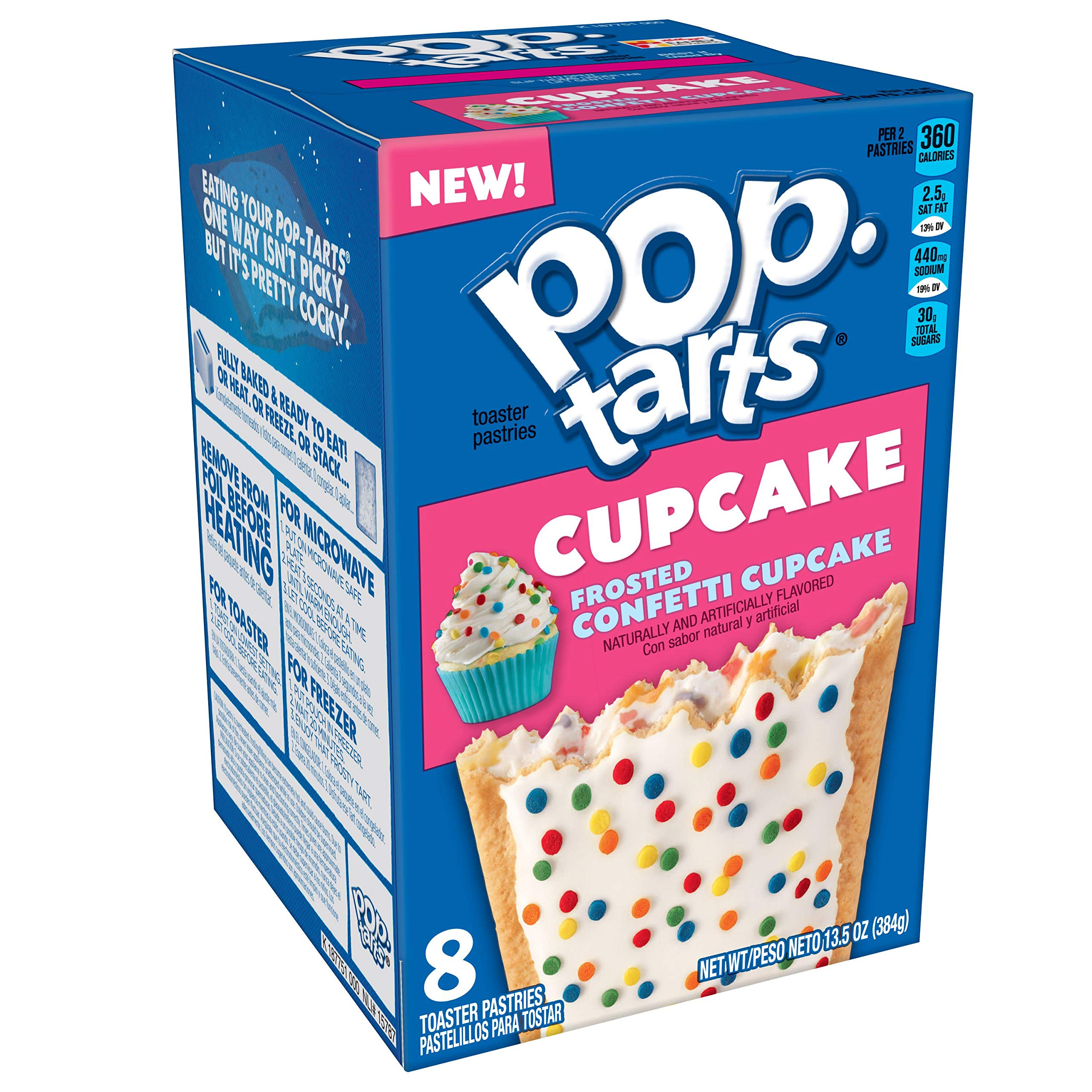Pop-Tarts Cupcake, Breakfast Toaster Pastries, Frosted Confetti Cupcake, 13.5oz Box (Pack of 12) by Pop-Tarts