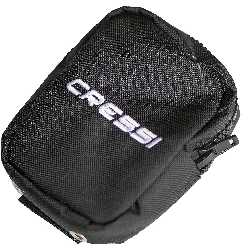 Cressi Lock Aid System - Buceo peso bolsills, Negro IZ750097