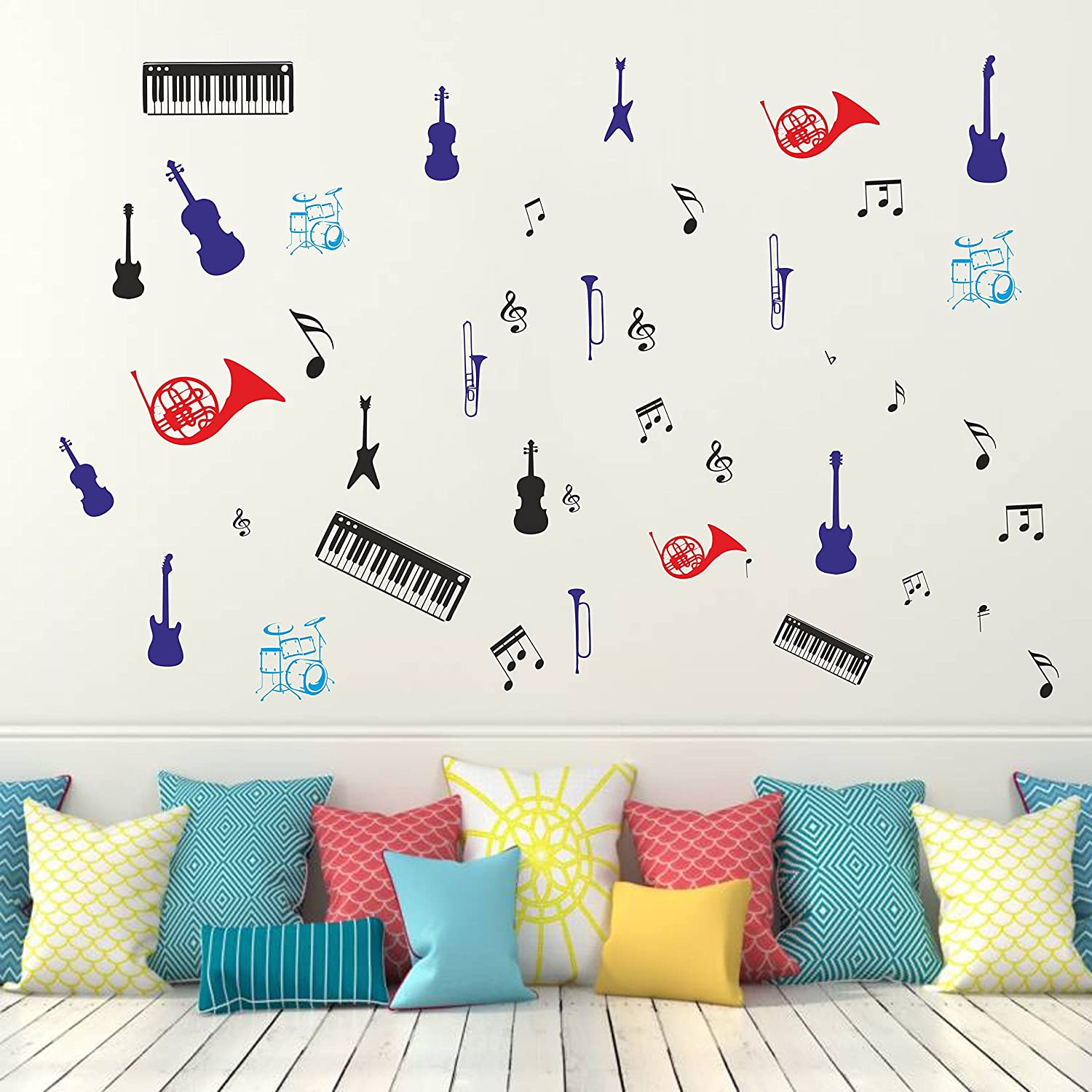 Buy Orka Music Theme Digital Printed Wall Decal Sticker 55 X 55 Cm Sb503 Online At Low Prices In India Amazon In