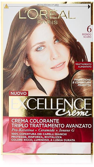 46 opinioni per L'Oréal Paris Excellence Crema Colorante Triplo Trattamento Avanzato, 6 Biondo