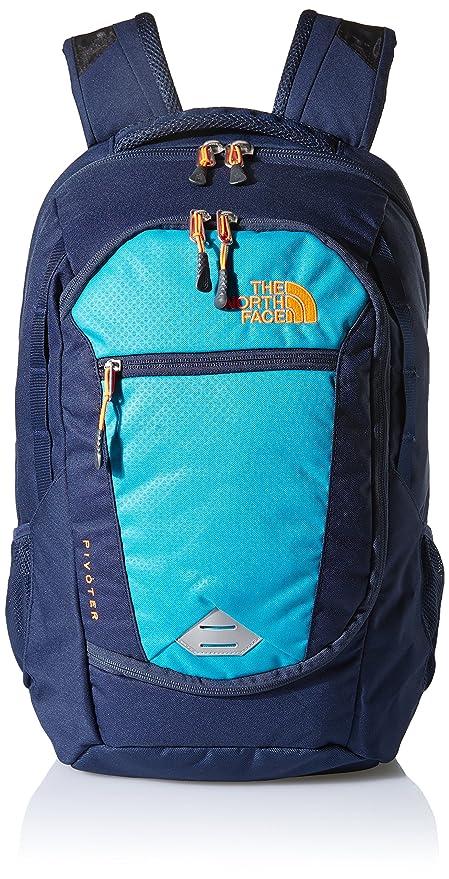5740d8597 The North Face Pivoter Backpack (Enamel Blue/Shocking Orange)