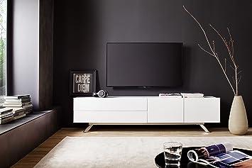 Lowboard weiß matt  TV-Lowboard weiss matt lackiert: Amazon.de: Küche & Haushalt