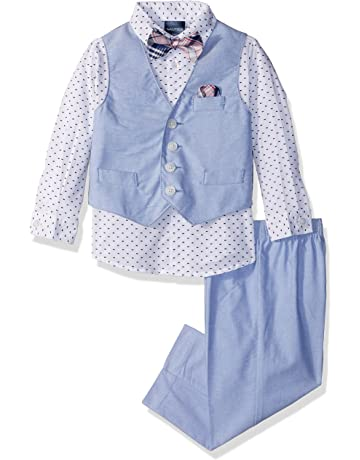 2a0366d97 Nautica Baby Boys 4-Piece Set with Dress Shirts, Vests, Pants, and
