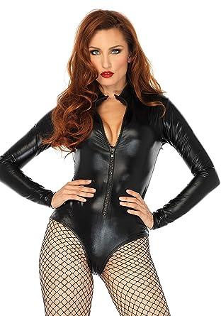 3d79cee6e Amazon.com: Leg Avenue Women's Black Bodysuit: Clothing