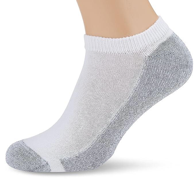 Hanes Aq003z2, Calcetines Cortos para Hombre, Blanco Wht/Bianco, Fabricante: Talla