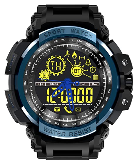 cdfbc9ceb46 LEMFO LF21 Smart Watch Outdoor Sport Men Alloy Case with Silicone Strap Waterproof  5ATM with Heart