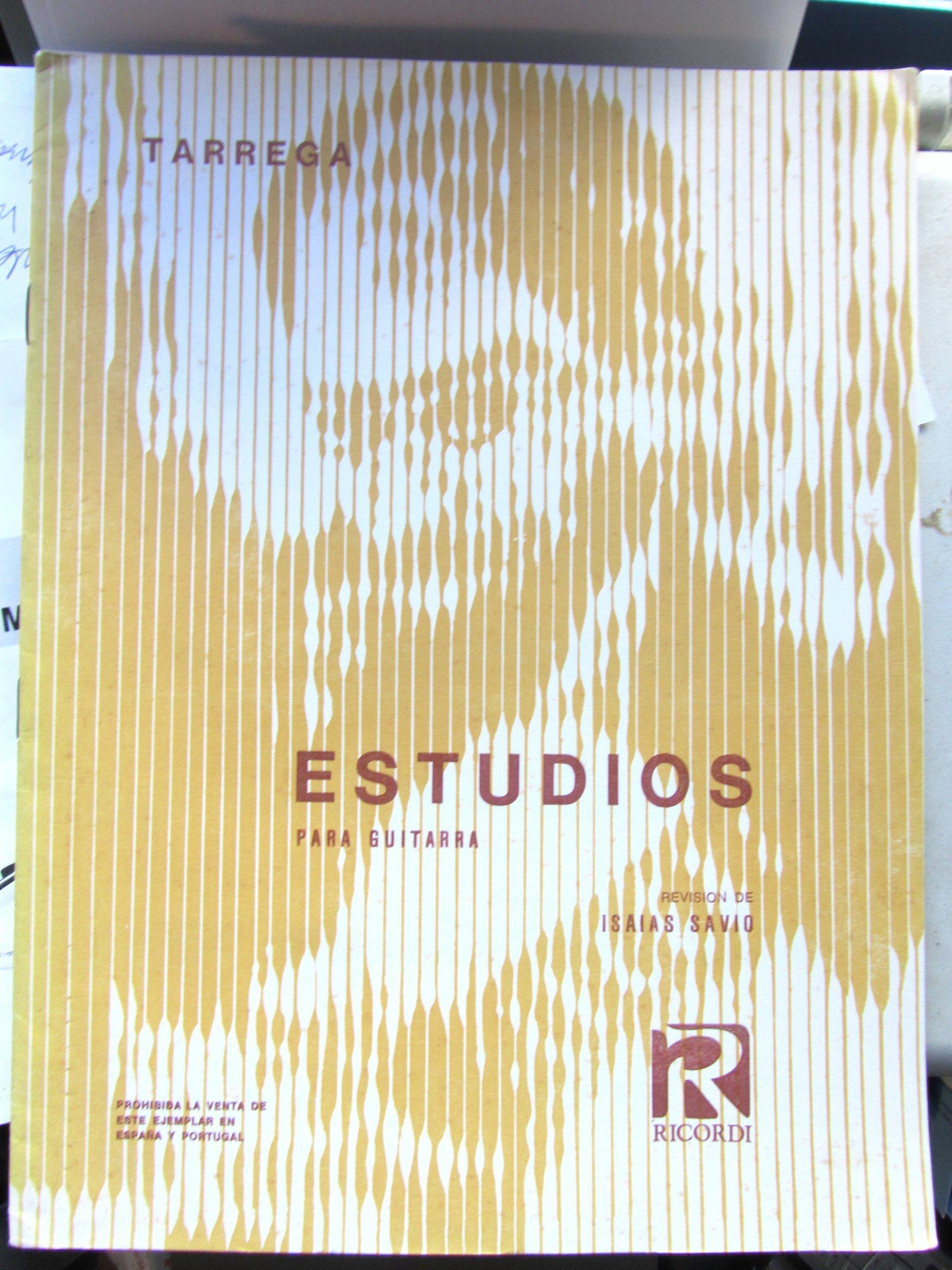 TARREGA - Estudios para Guitarra (Savio): Amazon.es: TARREGA: Libros
