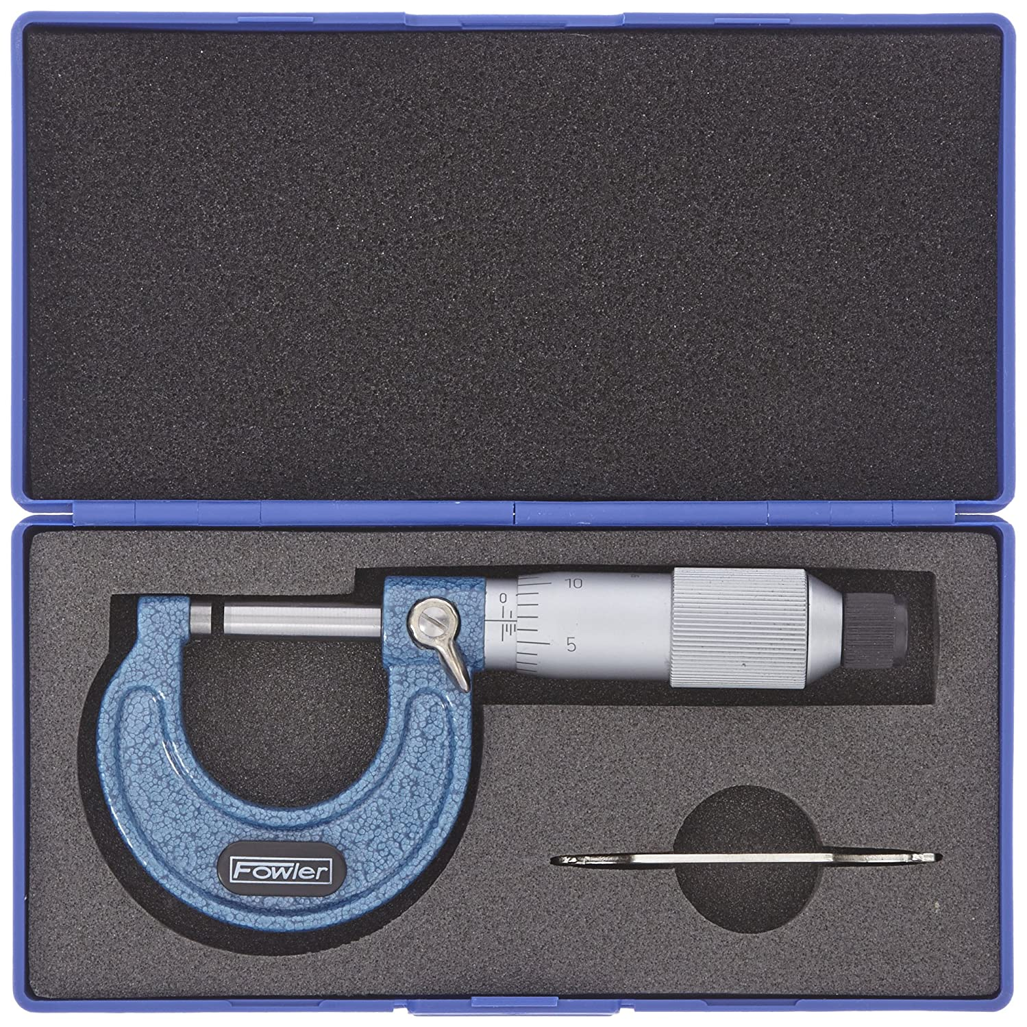 0.001 Graduation Fowler 52-253-001-1 52-253 Series Outside Inch Micrometer 0-1 Measuring Range 0.00016 Accuracy Friction Stop Thimble
