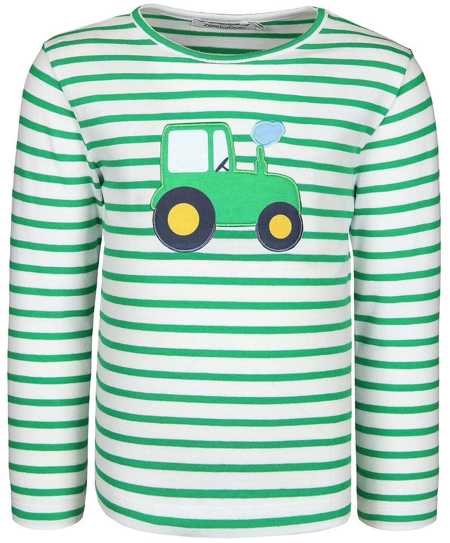 zoolaboo Langarmshirt Jungen Traktor Tobi, Gestreift 10-0-R-12A-S54