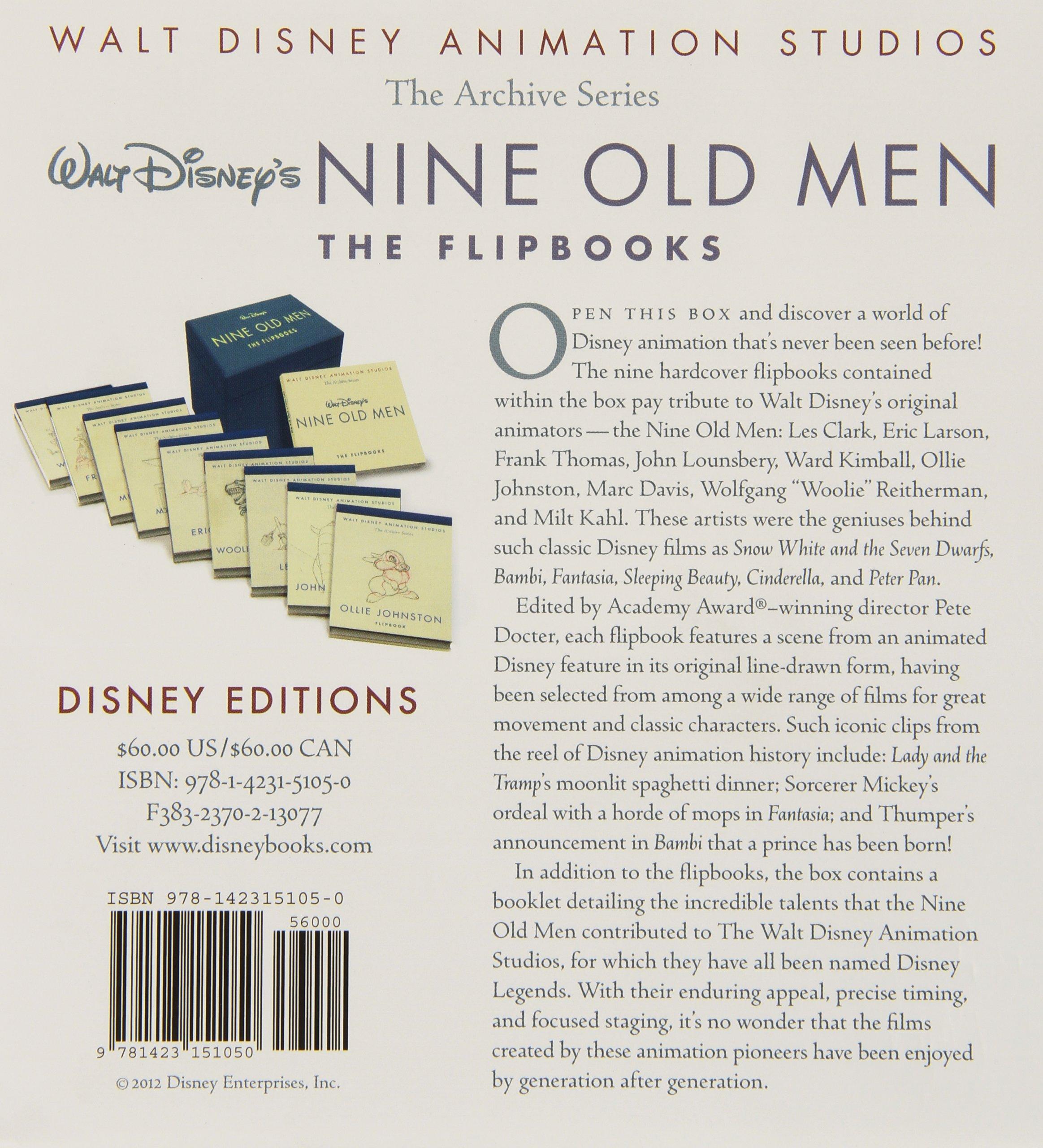 walt disney s nine old men the flipbooks pete docter walt disney