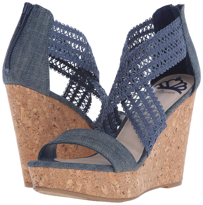 Fergalicious Women's Vanessa Wedge Sandal B016RG18NI 8.5 B(M) US|Denim